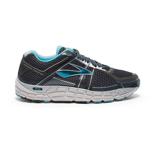 Womens Brooks Addiction 12 Running Shoe - Anthracite/Blue 6