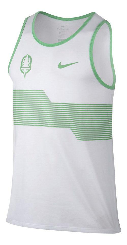 Mens Nike Oregon Project Sleeveless & Tank Technical Tops - White XL
