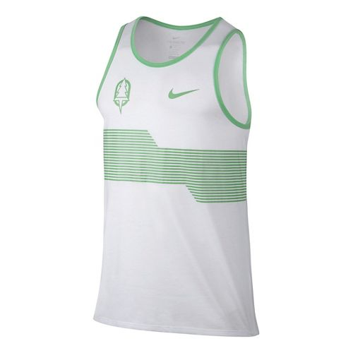 Mens Nike Oregon Project Sleeveless & Tank Technical Tops - White XL