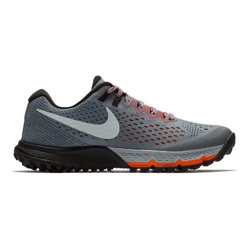 Womens Nike Air Zoom Terra Kiger 4 Trail Running Shoe - Grey/Red 8