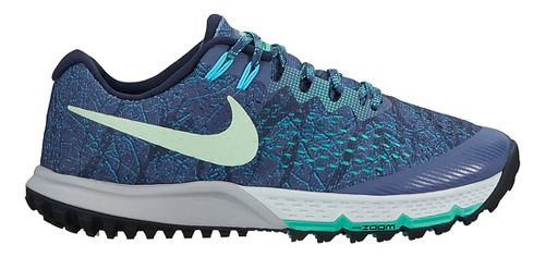 Womens Nike Air Zoom Terra Kiger 4 Trail Running Shoe - Blue/Green 7