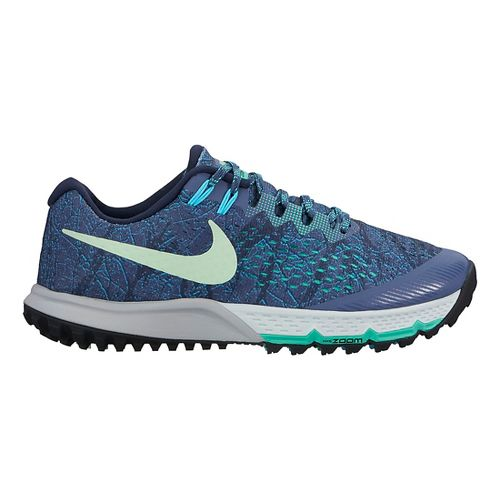 Womens Nike Air Zoom Terra Kiger 4 Trail Running Shoe - Blue/Green 7.5