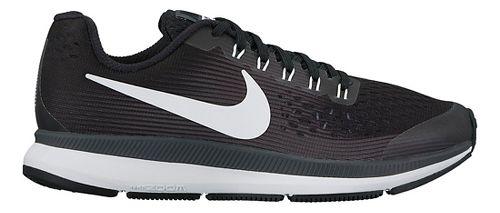 Kids Nike Air Zoom Pegasus 34 Running Shoe - Black/Grey 6Y