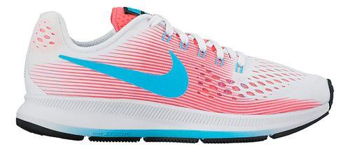 Kids Nike Air Zoom Pegasus 34 Running Shoe - White/Pink 1.5Y