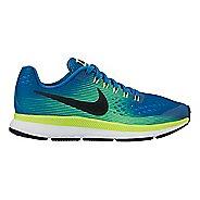 Kids Nike Air Zoom Pegasus 34 Running Shoe - Blue/Green 7Y