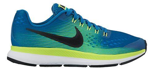 Kids Nike Air Zoom Pegasus 34 Running Shoe - Blue/Green 4Y