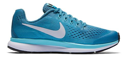 Kids Nike Air Zoom Pegasus 34 Running Shoe - Aqua 1.5Y