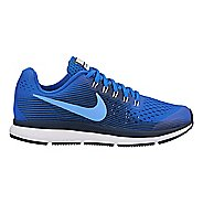 Kids Nike Air Zoom Pegasus 34 Running Shoe - Blue/Black 4Y