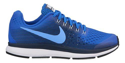 Kids Nike Air Zoom Pegasus 34 Running Shoe - Blue/Black 3Y