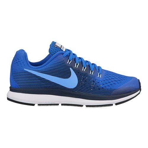 Kids Nike Air Zoom Pegasus 34 Running Shoe - Blue/Black 6Y