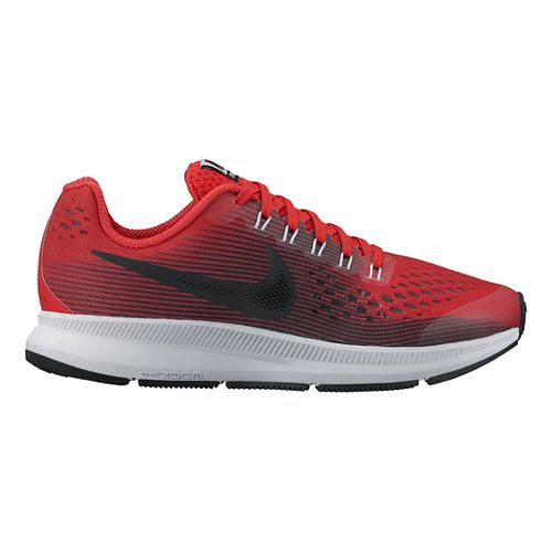 Kids Nike Air Zoom Pegasus 34 Running Shoe - Red/Black 3.5Y