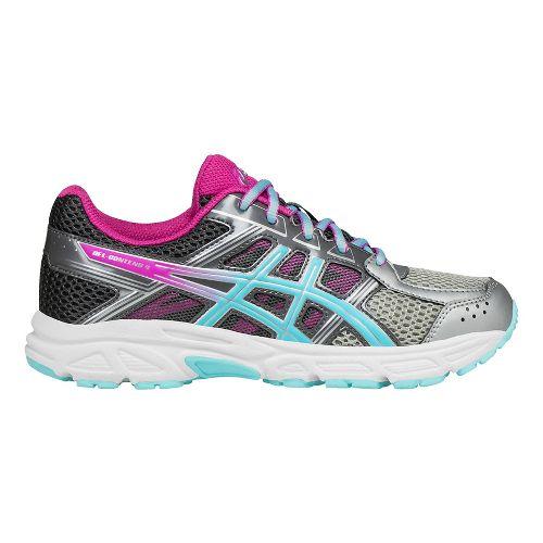 ASICS Kids GEL-Contend 4 Running Shoe - Silver/Aqua/Pink 2.5Y
