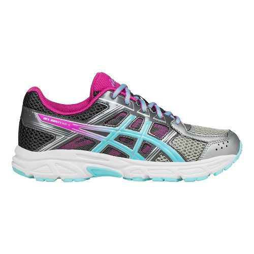 ASICS Kids GEL-Contend 4 Running Shoe - Silver/Aqua/Pink 3Y