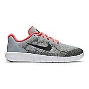 Kids Nike Free RN 2017 Running Shoe - Grey/Pink 4Y