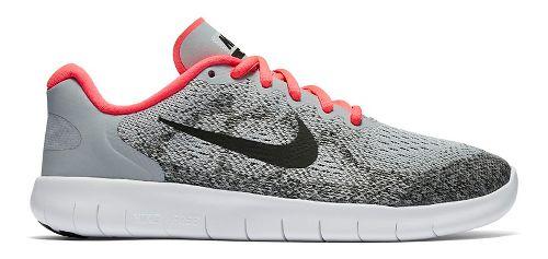 Kids Nike Free RN 2017 Running Shoe - Grey/Pink 3.5Y