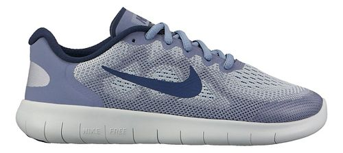 Kids Nike Free RN 2017 Running Shoe - Blue Grey 7Y