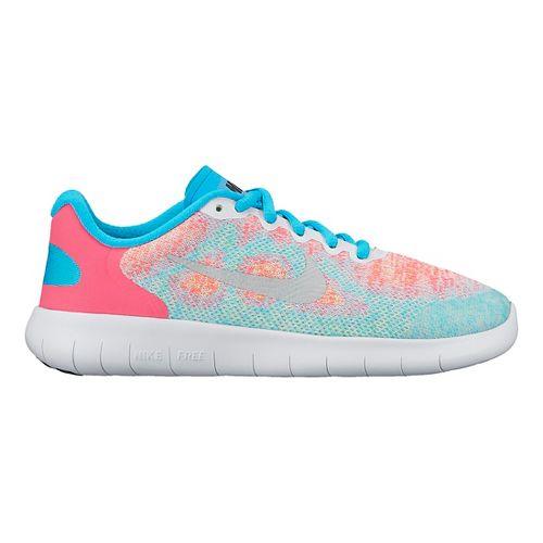 Kids Nike Free RN 2017 Running Shoe - White/Pink 6.5Y