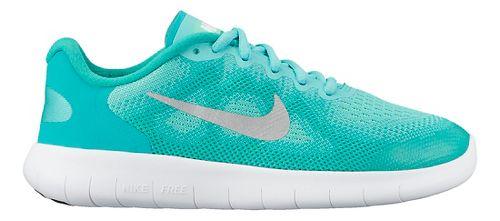 Kids Nike Free RN 2017 Running Shoe - Blue/White 3.5Y