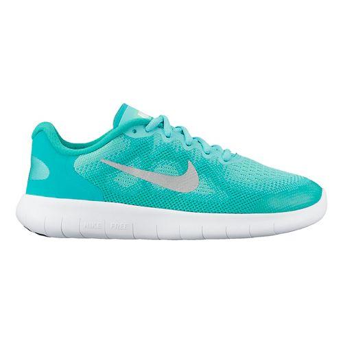 Kids Nike Free RN 2017 Running Shoe - Turquoise 4.5Y
