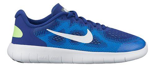 Kids Nike Free RN 2017 Running Shoe - Blue 3.5Y