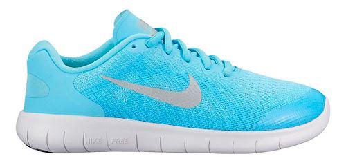 Kids Nike Free RN 2017 Running Shoe - Blue/White 4.5Y