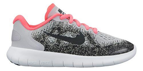 Kids Nike Free RN 2017 Running Shoe - Grey/Pink 1Y