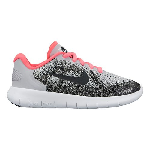 Kids Nike Free RN 2017 Running Shoe - Grey/Pink 2Y