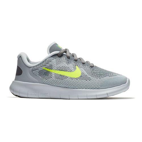 Kids Nike Free RN 2017 Running Shoe - Grey/Volt 2Y