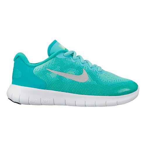 Kids Nike Free RN 2017 Running Shoe - Grey/Volt 1Y
