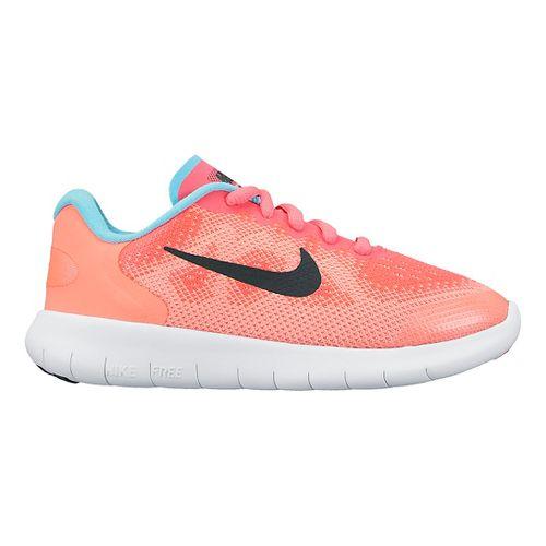 Kids Nike Free RN 2017 Running Shoe - Pink 12C