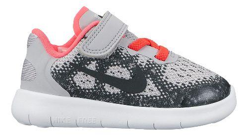 Kids Nike Free RN 2017 Running Shoe - Grey/Pink 6C