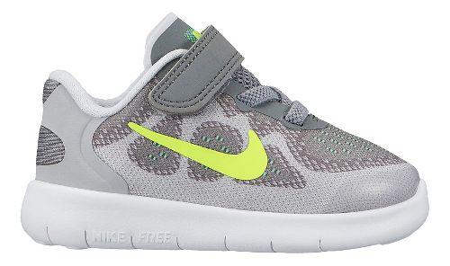 Kids Nike Free RN 2017 Running Shoe - Grey/Volt 9C