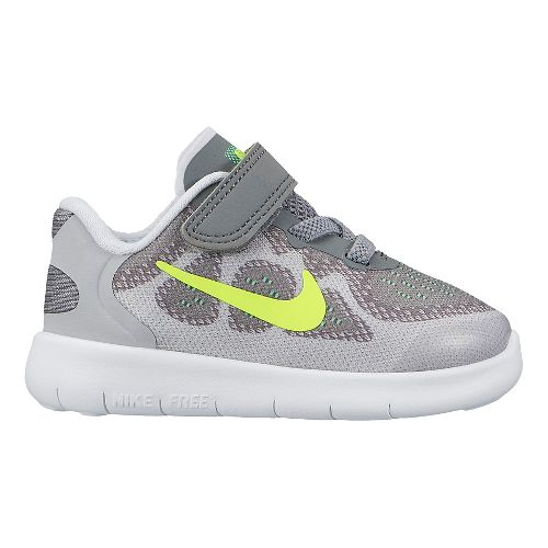 Kids Nike Free RN 2017 Running Shoe - Grey/Volt 10C