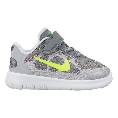 Kids Nike Free RN 2017 Running Shoe - Grey/Volt 6C