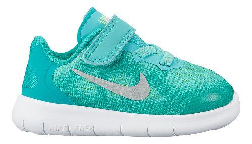 Kids Nike Free RN 2017 Running Shoe - Turquoise 7C