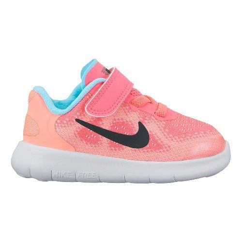 Kids Nike Free RN 2017 Running Shoe - Pink 6C