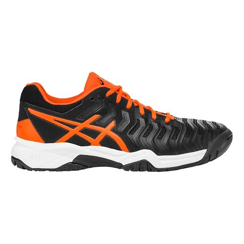 ASICS Kids GEL-Resolution 7 Court Shoe - Black/Orange 1.5Y