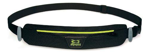 Amphipod MicroStretch Quick-Clip Race Belt Fitness Equipment - Black/Hi Viz