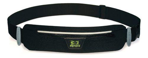 Amphipod MicroStretch Quick-Clip Race Plus Belt Fitness Equipment - Black