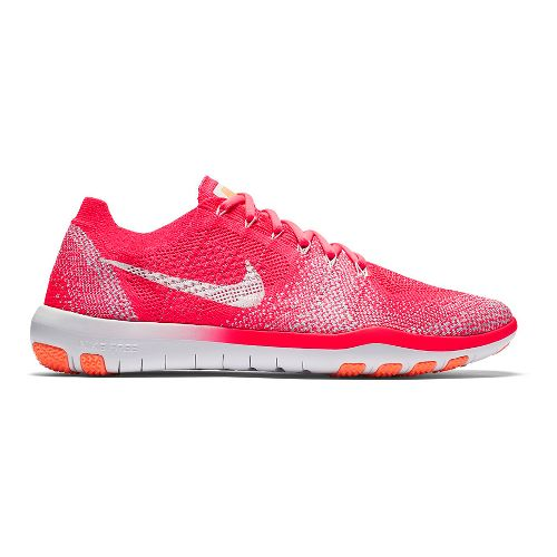 Womens Nike Free Focus Flyknit 2 Cross Training Shoe - Pink/White 6