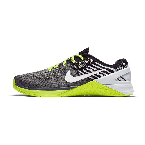 Mens Nike MetCon DSX Flyknit Cross Training Shoe - Black/Volt 8