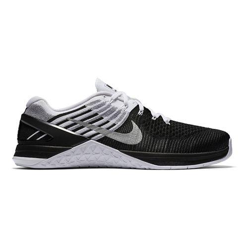 Mens Nike MetCon DSX Flyknit Cross Training Shoe - Black/White 12