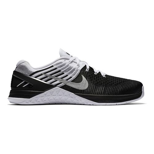 Mens Nike MetCon DSX Flyknit Cross Training Shoe - Black/White 8.5