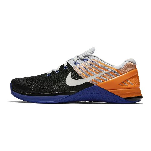 Mens Nike MetCon DSX Flyknit Cross Training Shoe - Platinum/Blue 11