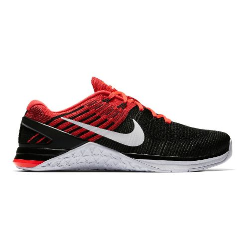 Mens Nike MetCon DSX Flyknit Cross Training Shoe - Black/Red 8