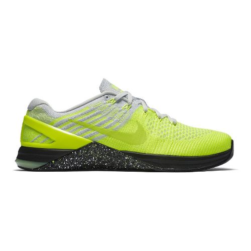 Mens Nike MetCon DSX Flyknit Cross Training Shoe - Volt/Green 9.5