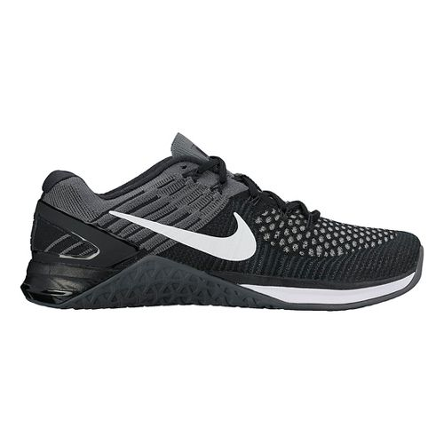 Womens Nike MetCon DSX Flyknit Cross Training Shoe - Black/Grey 8