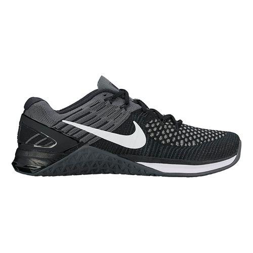 Womens Nike MetCon DSX Flyknit Cross Training Shoe - Black/Grey 8