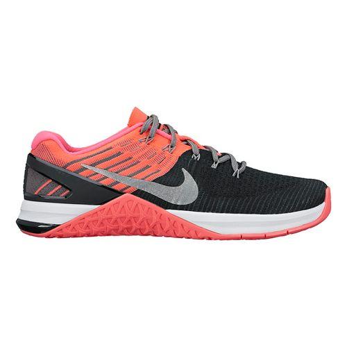Womens Nike MetCon DSX Flyknit Cross Training Shoe - Black/Hyper Punch 9