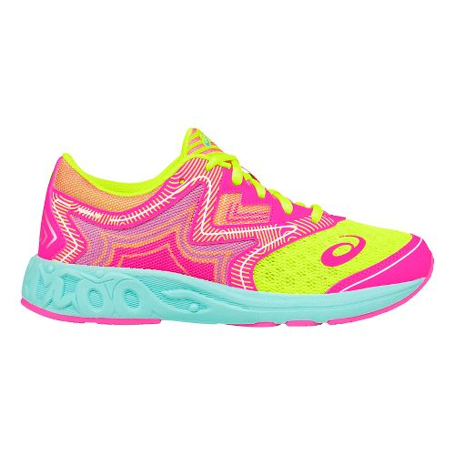 ASICS Noosa FF Running Shoe - Pink/Safety Yellow 7Y